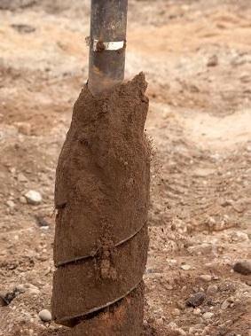 Круглое сечение столбов