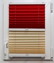 Шторы плиссе Красное и белое