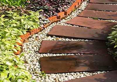 Ландшафтный дизайн дорожки из комбинированного покрытия