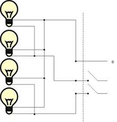 Схема подключения двойного выключателя